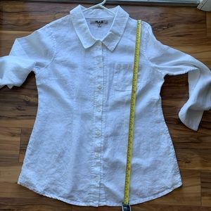 Flax life is a choice buttoned down shirt S
